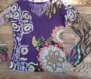 Etro Silk and Cashmere Thin Knit Sweater, As-Is